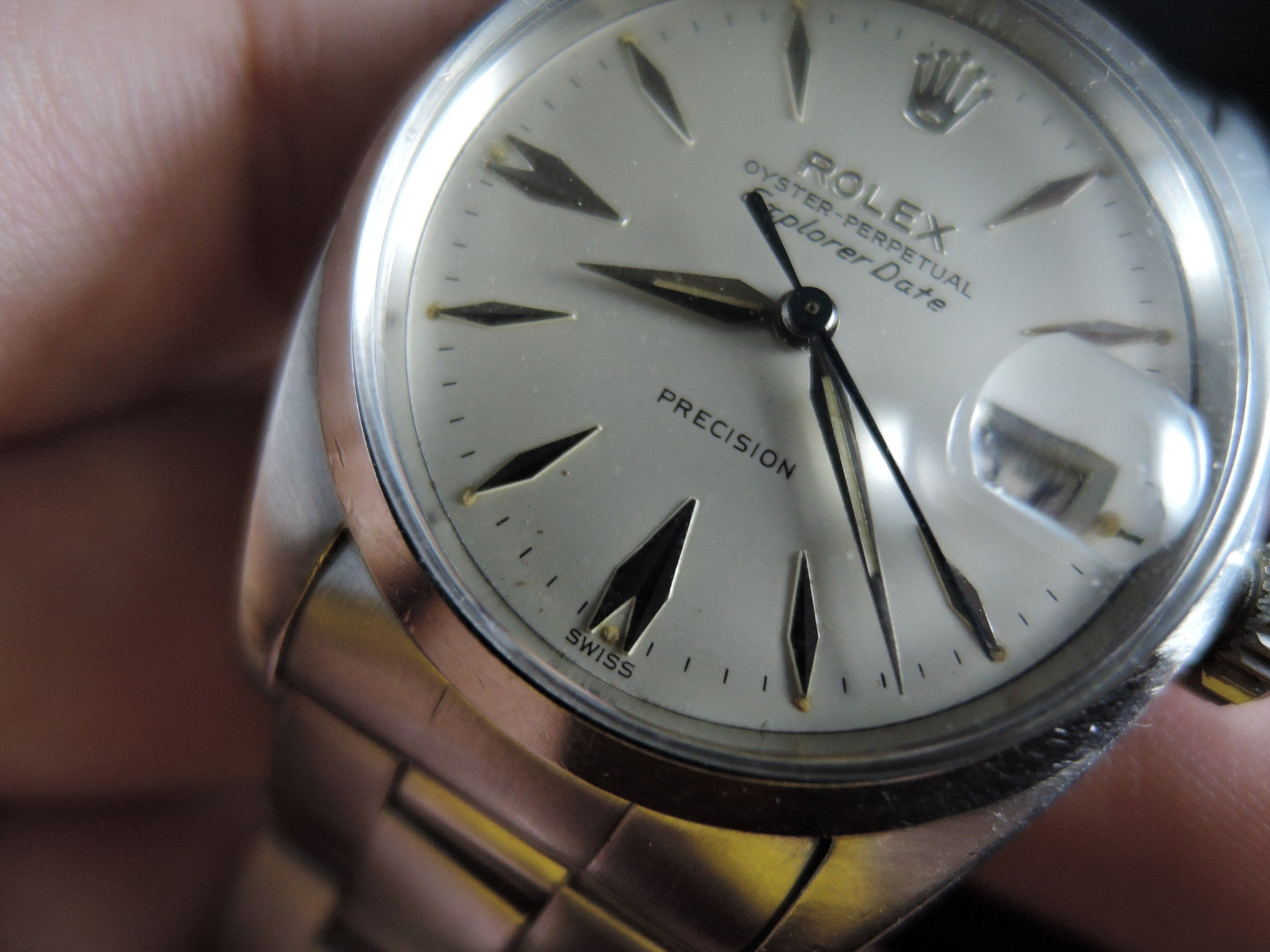 1960 Rolex AIR KING EXPLORER DATE 5700 Original Silver ...