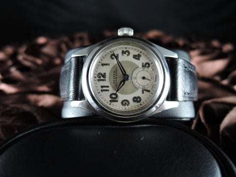 1940 Rolex JUNIOR SPORT Bullseye Dial with Arabic Numerals and Sub Seconds