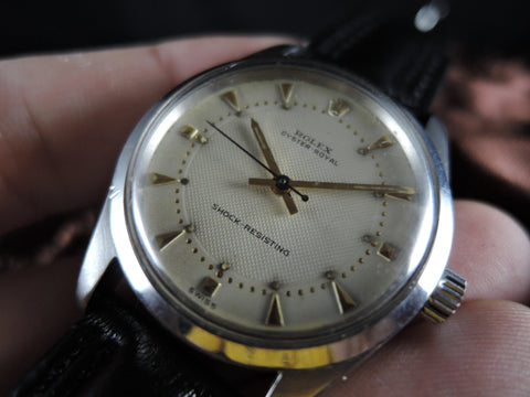 1963 Rolex OYSTER ROYAL 6244 Original White Honeycomb Dial