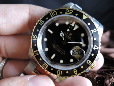 1999 Rolex GMT MASTER 2 2-Tone 16713 Black Dial with Box and Paper