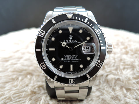 1995 Rolex SUBMARINER 16610 Black (T25) Dial with Nice Patina