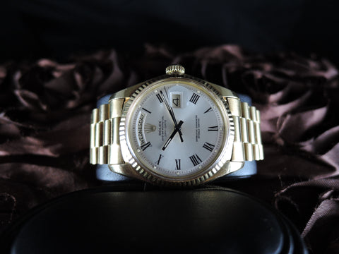 1977 Rolex DAY-DATE 1803 18K Gold with Original Silver Buckley and Gold Bracelet