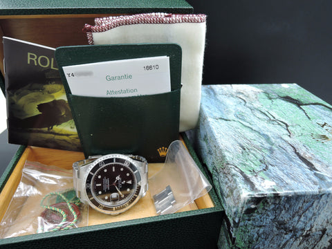 [NEW] 2003 Rolex SUBMARINER 16610 Black Dial with Box and Paper