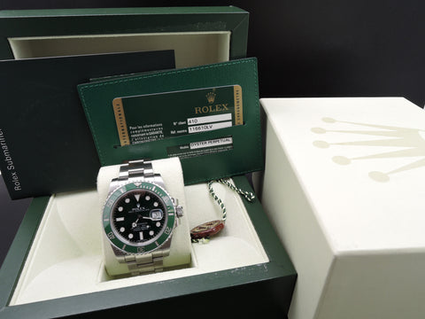 2011 Rolex SUBMARINER 116610LV Stainless Steel Ceramic Bezel Full Set