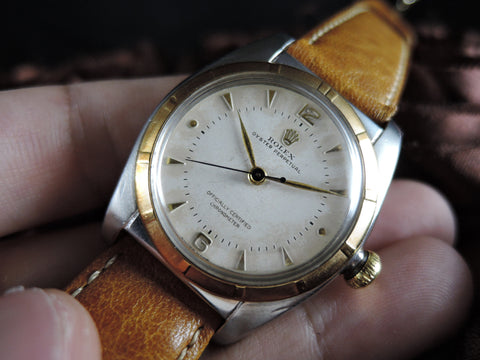 1948 Rolex BUBBLEBACK 5011 with Original Dial and SHORT Second Hand
