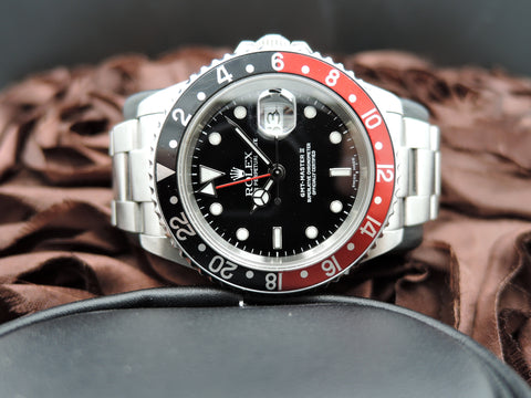 2004 Rolex GMT MASTER 2 16710 Coke Red/Black Bezel (No Hole Case)