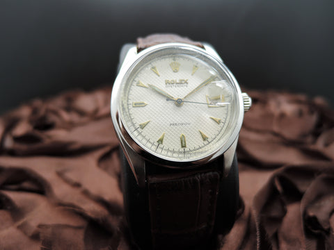 1954 Rolex OYSTERDATE 6294 Original Honeycomb Dial with ALL RED Date