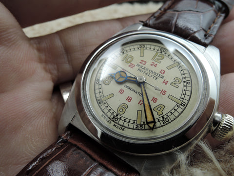 1937 Rolex 2750 Oyster Royalite Military with Box and Paper