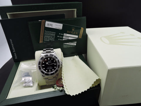 2010 Rolex SUBMARINER 14060M 4 Liners with Full Set