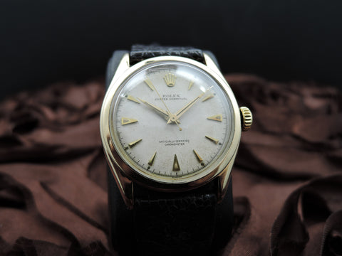 1954 Rolex SEMI-BUBBLEBACK 6084 14K Yellow Gold with Creamy Dial