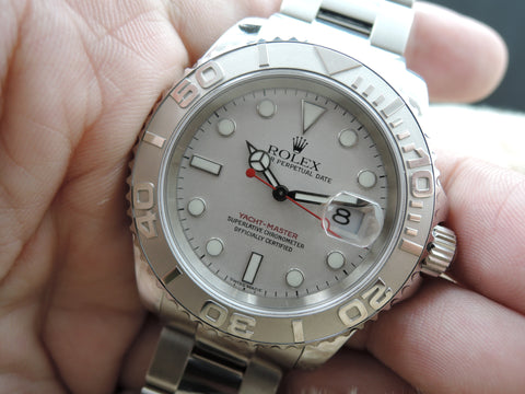 2000 Rolex YACHT-MASTER 16622 Grey Dial Full Set Like New