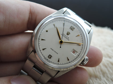 1951 Rolex OYSTER DATE 6094 Original Creamy Dial with Sword Hands