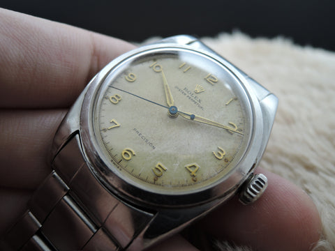 1953 Rolex OYSTER PERPETUAL 6098 with Arabic Dial BIG Bubbleback (36mm)