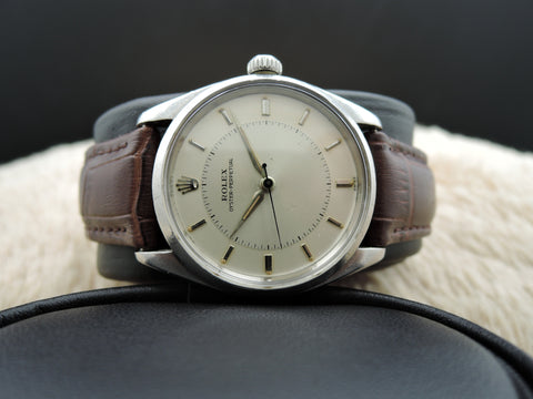 1958 Rolex Oyster Perpetual 6552 with Silver Bullseye Dial and Dauphine Hands