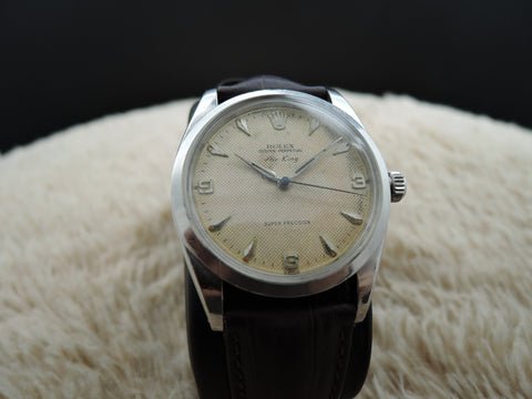 1958 Rolex AIR KING 5504 BIG SIZE Original Honeycomb EXPLORER RARE (36mm)