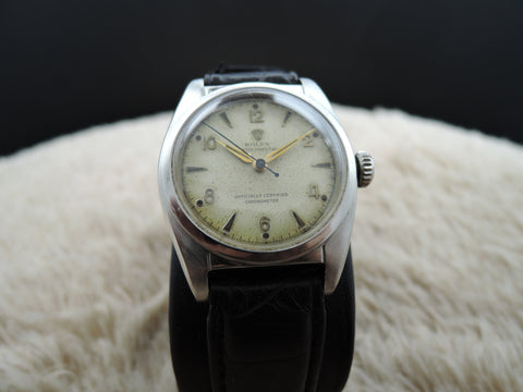 1950 Rolex BUBBLEBACK 6050 with Original Arabic Dial