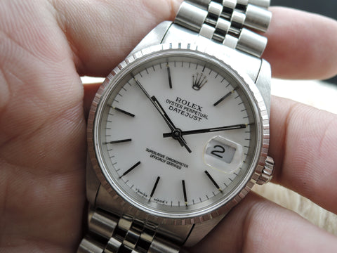 2002 Rolex DATEJUST 16220 with Original White Dial and Jubilee Band
