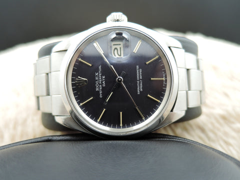1967 Rolex OYSTER DATE 1500 Original Dark Blue Dial with Rivet Band