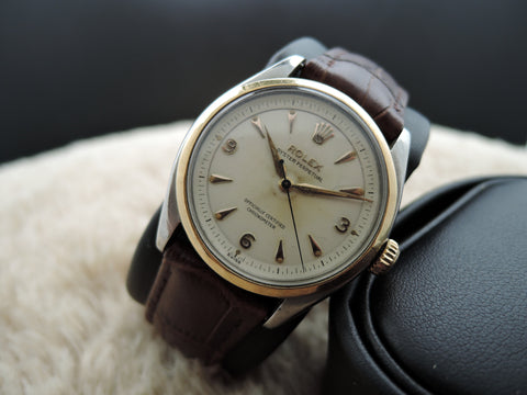 1952 Rolex OYSTER PERPETUAL 6085 White 2-Pieces Explorer Dial