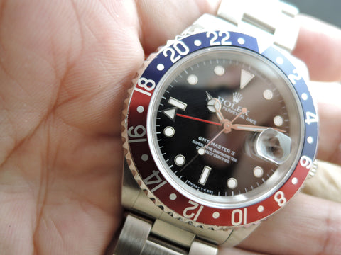1997 Rolex GMT MASTER 2 16710 Pepsi Red/Blue Bezel