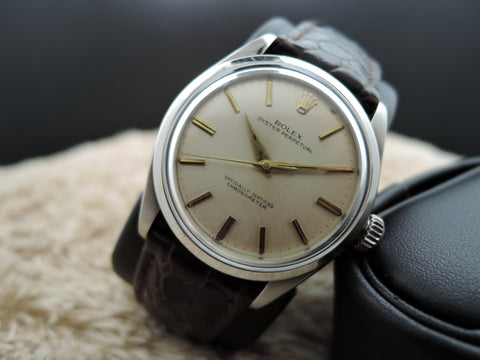 1954 Rolex SEMI-BUBBLEBACK 6284 Stainless Steel with Silver Dial