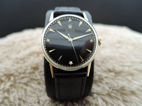 1950 Rolex Precision 8961 18K Yellow Gold with Original Gilt Star Dial