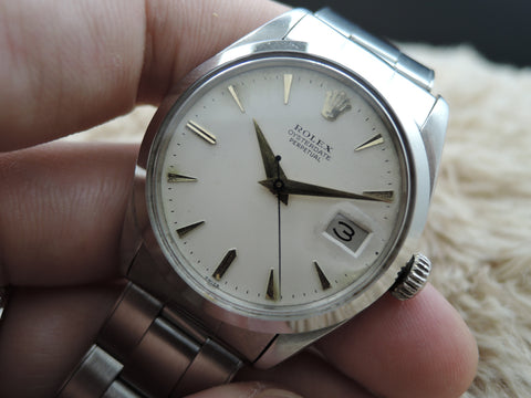 "1957 Rolex OYSTERDATE ""PERPETUAL"" 6534 Original Creamy Dial with Gold Markers"