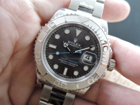 [NEW] Rolex YACHT MASTER 116622 with Rhodium Dial and Blue Hand