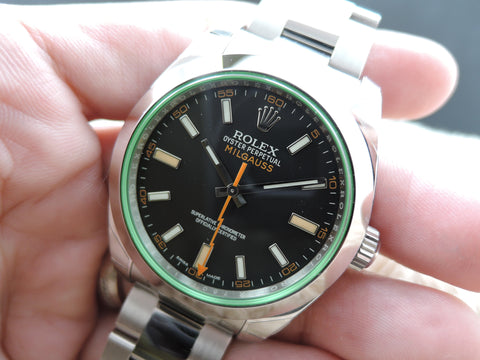 [NEW] Rolex MILGAUSS 116400GV Green Glass Full Set