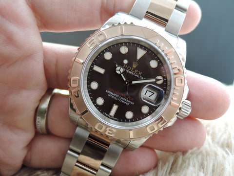 [NEW] Rolex YACHT MASTER 116621 SS/Everose Gold with Chocolate Dial