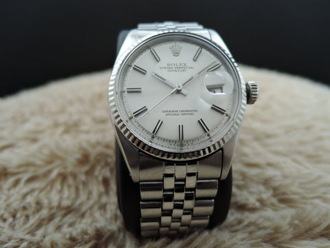 1971 Rolex DATEJUST 1601 SS ORIGINAL Silver SIGMA Dial with Paper and Tags