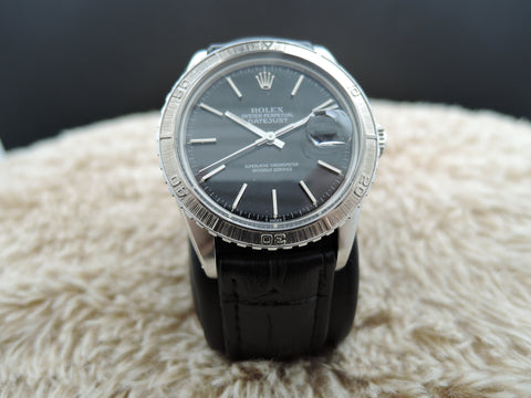 1979 Rolex DATEJUST THUNDERBIRD 16250 Stainless Steel Original Black Dial