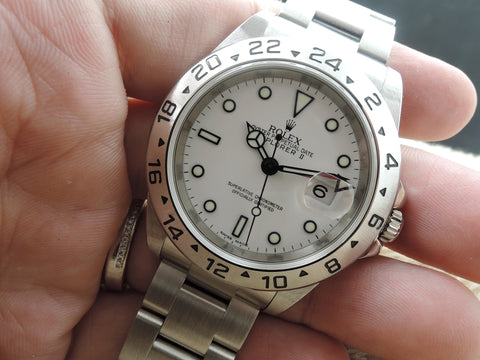 2007 Rolex EXPLORER 2 16570 White Dial with FULL SET