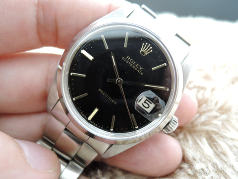 1963 Rolex OYSTER DATE 6694 Original Black Dial with Gold Markers