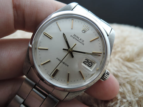 1964 Rolex OYSTER DATE 6694 Original Silver Dial with Gold Markers