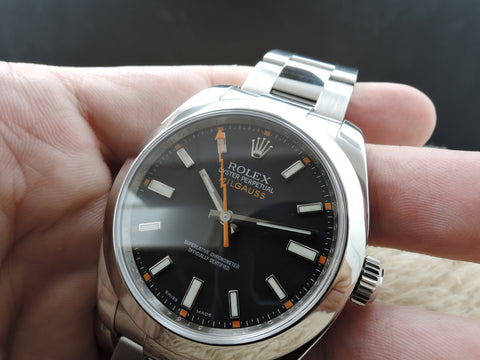 2009 Rolex MILGAUSS 116400 Black Dial Full Set