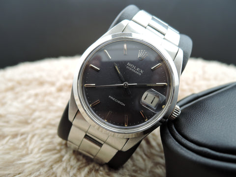 1971 Rolex OYSTER DATE 6694 Original Grey Dial with RSC Paper