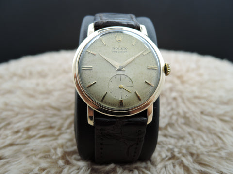 1961 Rolex OYSTER PRECISION 9K Yellow Gold with Sub-Seconds