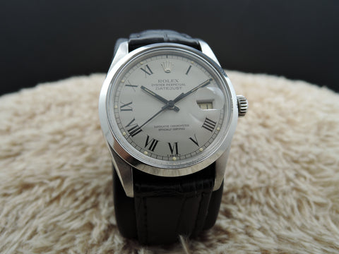 1980 Rolex DATEJUST 16000 Stainless Steel Original Silver Buckley Dial