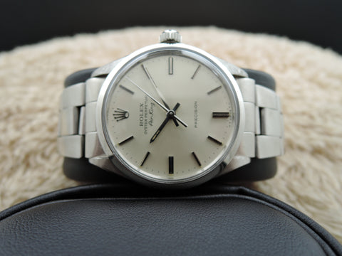 1972 Rolex AIR KING 5500 Original Silver Dial with Folded Oyster Band