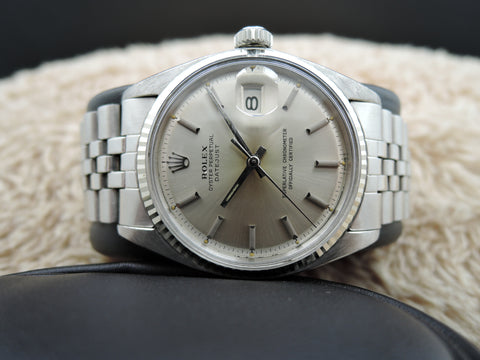 1964 Rolex DATEJUST 1601 SS ORIGINAL Silver Dial with Folded Jubilee