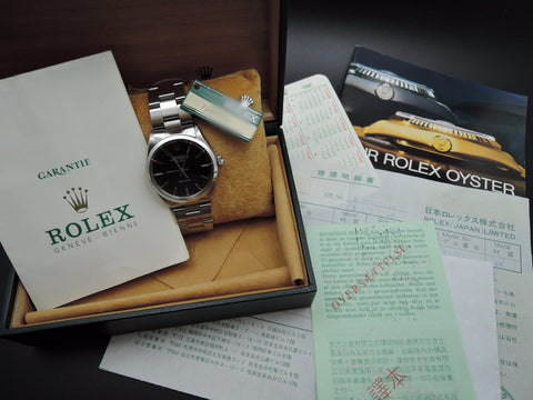 1985 Rolex AIR KING 5500 Original Black Dial with Box and Paper
