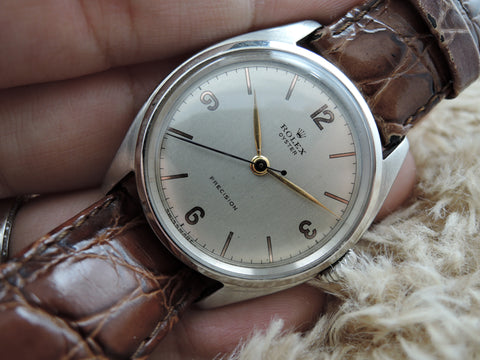 1950 Rolex OYSTER 5070 Original Cream Dial with Rose Gold Plated Numerals