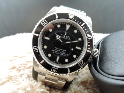 2010 Rolex SUBMARINER 14060M No Date 4 Lines COSC Dial