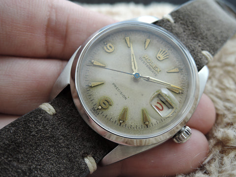 1957 Rolex OYSTER DATE 6494 Tropical Explorer Dial with Red/Black Date