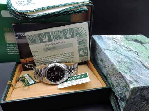 1987 Rolex AIR KING 5500 Original Black Dial with Full Set