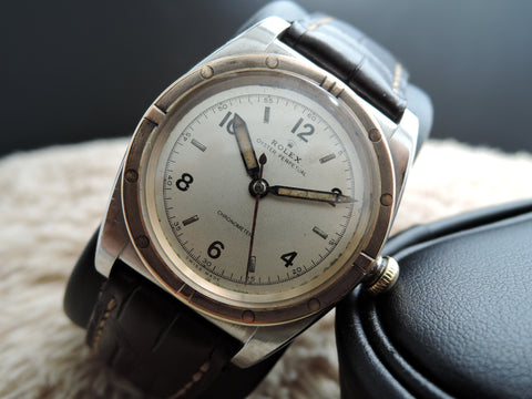 1947 Rolex BUBBLEBACK 3372 with Arabic Numerals and Pencil Hands
