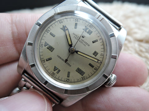 1945 Rolex BUBBLEBACK 3372 with Original Dial with Roman Numerals