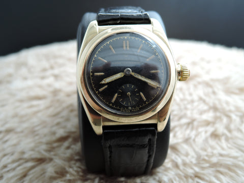 1936 Rolex OYSTER 1873 9K Yellow Gold with Black Dial and Sub-Seconds