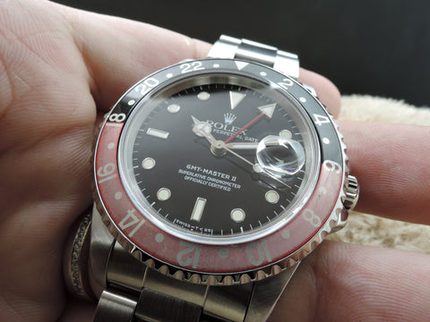 1991 Rolex GMT MASTER 2 16710 Coke Red/Black Bezel